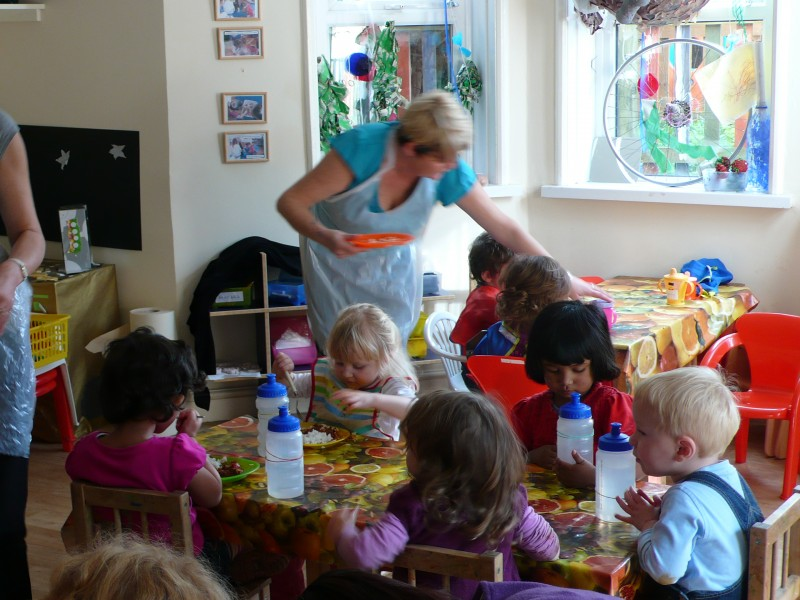 Lunchtime at Hugo & Holly's Heathville Road nursery