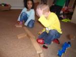 Pre-school children playing