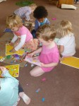 Toddlers playing together at Hugo and Holly Nursery
